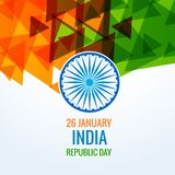Ημέρα Δημοκρατίας του διανυσματικού σχεδίου της Ινδίας Στοκ φωτογραφίες με δικαίωμα ελεύθερης χρήσης
