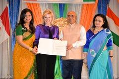 Ημέρα Δημοκρατίας των εορτασμών της Ινδίας Στοκ φωτογραφία με δικαίωμα ελεύθερης χρήσης