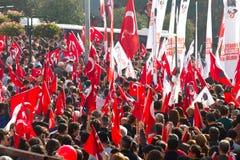 Ημέρα Δημοκρατίας των εορτασμών της Τουρκίας Στοκ φωτογραφίες με δικαίωμα ελεύθερης χρήσης