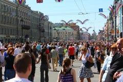 ημέρα διακοπές Πετρούπολη ST Στοκ φωτογραφίες με δικαίωμα ελεύθερης χρήσης