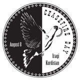 Ημέρα εκεχειρίας - ιρακινό Κουρδιστάν απεικόνιση αποθεμάτων