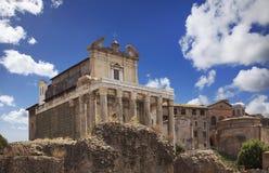 Ημέρα εκκλησιών ναών φόρουμ της Ρώμης Στοκ Εικόνα