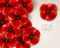 Ημέρα ενθύμησης - 11 Νοεμβρίου - για να μην ξεχνάμε Στοκ εικόνα με δικαίωμα ελεύθερης χρήσης