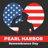 Ημέρα ενθύμησης Pearl Harbor στις 7 Δεκεμβρίου 1941, 2017 Απεικόνιση αποθεμάτων
