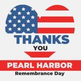 Ημέρα ενθύμησης Pearl Harbor στις 7 Δεκεμβρίου 1941, 2017 Ελεύθερη απεικόνιση δικαιώματος