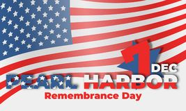 Ημέρα ενθύμησης Pearl Harbor στις 7 Δεκεμβρίου 1941, 2017 Διανυσματική απεικόνιση
