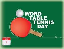 Ημέρα επιτραπέζιας αντισφαίρισης λέξης Στοκ φωτογραφία με δικαίωμα ελεύθερης χρήσης