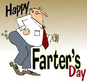 Ημέρα ευτυχούς Farter Στοκ εικόνα με δικαίωμα ελεύθερης χρήσης