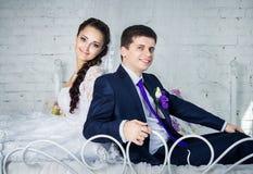 ημέρα ζευγών ο γάμος τους Στοκ Φωτογραφία