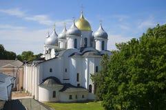 Ημέρα Ιουλίου καθεδρικών ναών Αγίου Sophia εκκλησία δημοπρασίας υπόθεσης novgorod veliky Στοκ Εικόνες