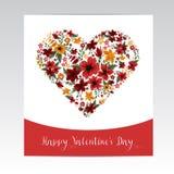 ημέρα καρτών που χαιρετά τον ευτυχή βαλεντίνο του s ελεύθερη απεικόνιση δικαιώματος