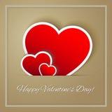 ημέρα καρτών που χαιρετά τους ευτυχείς βαλεντίνους Στοκ Εικόνες