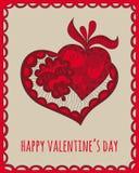 ημέρα καρτών που χαιρετά τους ευτυχείς βαλεντίνους Στοκ φωτογραφία με δικαίωμα ελεύθερης χρήσης