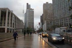 Ημέρα μετά από τον τυφώνα αμμώδη στη Νέα Υόρκη Στοκ Εικόνα