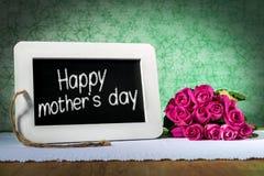 Ημέρα μητέρων πινάκων πλακών Στοκ Εικόνες