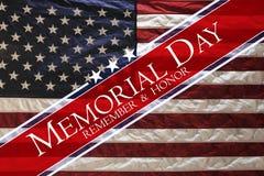 Ημέρα μνήμης αμερικανικών σημαιών - θυμηθείτε & τιμήστε στοκ φωτογραφία