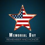 Ημέρα μνήμης με το αστέρι στα χρώματα εθνικών σημαιών διανυσματική απεικόνιση