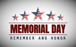 Ημέρα μνήμης με το αστέρι στα χρώματα εθνικών σημαιών στοκ εικόνες