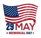 Ημέρα μνήμης 2017 Σχέδιο αφισών με την αμερικανική σημαία Στοκ εικόνα με δικαίωμα ελεύθερης χρήσης