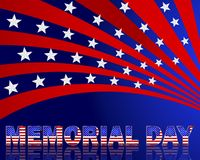Ημέρα μνήμης. Όμορφο κείμενο με το σχέδιο του αμερικανικού ΛΦ Στοκ φωτογραφίες με δικαίωμα ελεύθερης χρήσης