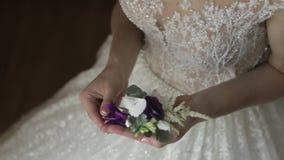 ημέρα νυφών ο γάμος της γαμήλιο λευκό φορεμάτων φιλμ μικρού μήκους
