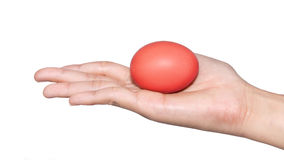 Ημέρα Πάσχας αυγών εκμετάλλευσης χεριών Στοκ εικόνα με δικαίωμα ελεύθερης χρήσης