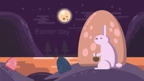 ημέρα Πάσχα ευτυχές διανυσματική απεικόνιση