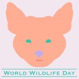 Ημέρα παγκόσμιας άγριας φύσης αλεπούδων Στοκ Εικόνα