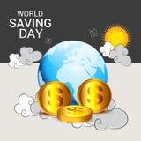 Ημέρα παγκόσμιας αποταμίευσης Στοκ εικόνες με δικαίωμα ελεύθερης χρήσης