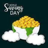 Ημέρα παγκόσμιας αποταμίευσης Στοκ φωτογραφία με δικαίωμα ελεύθερης χρήσης