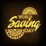 Ημέρα παγκόσμιας αποταμίευσης Στοκ εικόνα με δικαίωμα ελεύθερης χρήσης