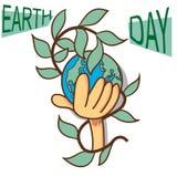 Ημέρα παγκόσμιας γης, απεικόνιση Στοκ φωτογραφία με δικαίωμα ελεύθερης χρήσης
