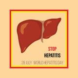Ημέρα παγκόσμιας ηπατίτιδας επίσης corel σύρετε το διάνυσμα απεικόνισης Στοκ φωτογραφία με δικαίωμα ελεύθερης χρήσης