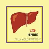 Ημέρα παγκόσμιας ηπατίτιδας επίσης corel σύρετε το διάνυσμα απεικόνισης Στοκ Εικόνες