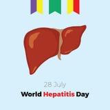 Ημέρα παγκόσμιας ηπατίτιδας επίσης corel σύρετε το διάνυσμα απεικόνισης Στοκ εικόνα με δικαίωμα ελεύθερης χρήσης