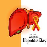 Ημέρα παγκόσμιας ηπατίτιδας Στοκ Φωτογραφία
