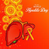 Ημέρα παγκόσμιας ηπατίτιδας διανυσματική απεικόνιση