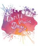 Ημέρα παγκόσμιας μουσικής διανυσματική απεικόνιση