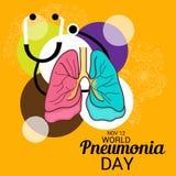 Ημέρα παγκόσμιας πνευμονίας Στοκ Εικόνες