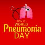 Ημέρα παγκόσμιας πνευμονίας Στοκ φωτογραφία με δικαίωμα ελεύθερης χρήσης