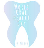 Ημέρα παγκόσμιας προφορική υγείας Στοκ φωτογραφία με δικαίωμα ελεύθερης χρήσης