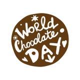 Ημέρα παγκόσμιας σοκολάτας, εικονίδιο για το σχέδιό σας ελεύθερη απεικόνιση δικαιώματος