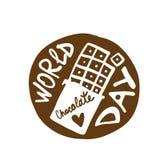 Ημέρα παγκόσμιας σοκολάτας, εικονίδιο για το σχέδιό σας διανυσματική απεικόνιση