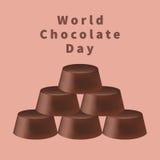 Ημέρα παγκόσμιας σοκολάτας Στοκ Εικόνες