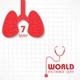 Ημέρα παγκόσμιου άσθματος Στοκ Εικόνα