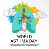 Ημέρα παγκόσμιου άσθματος ελεύθερη απεικόνιση δικαιώματος