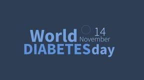 Ημέρα παγκόσμιου διαβήτη, στις 14 Νοεμβρίου έμβλημα Στοκ Εικόνες