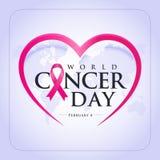 Ημέρα παγκόσμιου καρκίνου απεικόνιση αποθεμάτων