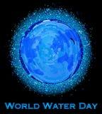 Ημέρα παγκόσμιου νερού Στοκ εικόνα με δικαίωμα ελεύθερης χρήσης