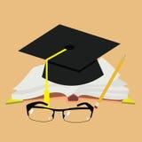 Ημέρα παγκόσμιων δασκάλων ` s Βιβλίο, γυαλιά, μάνδρα και ευθύ διάνυσμα ακρών διανυσματική απεικόνιση